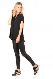 MICHAEL Michael Kors | Leren sneakers Allie Wrap | zwart  | Afbeelding 2