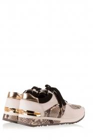 MICHAEL Michael Kors | Leren sneakers Trainer Allie Wrap | wit met dierenprint   | Afbeelding 4