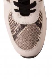 Leren sneakers Trainer Allie Wrap | wit met dierenprint