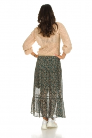 Lolly's Laundry |  Floral maxi skirt Bonny | green  | Picture 5