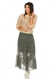 Lolly's Laundry |  Floral maxi skirt Bonny | green  | Picture 2