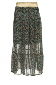 Lolly's Laundry |  Floral maxi skirt Bonny | green  | Picture 1