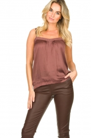 Lolly's Laundry    Sleeveless top with lace details Hanzo   brown    Picture 2