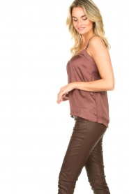 Lolly's Laundry    Sleeveless top with lace details Hanzo   brown    Picture 4