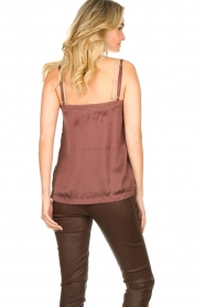 Lolly's Laundry |  Sleeveless top with lace details Hanzo | brown  | Picture 5