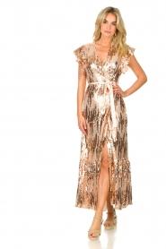 Dante 6 |  Maxi wrap dress with sequins Dancer | rose  | Picture 2