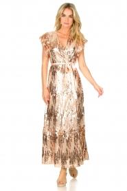 Dante 6 |  Maxi wrap dress with sequins Dancer | rose  | Picture 4