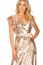 Dante 6 |  Maxi wrap dress with sequins Dancer | rose  | Picture 7