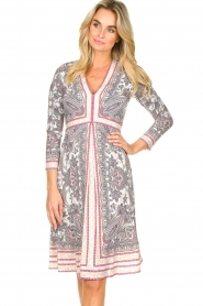 Hale Bob |  Micro fibre dress Renais | pink  | Picture 2