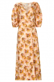 Dante 6 |  Maxi wrap dress with lurex Poetic | pink  | Picture 1