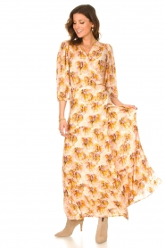 Dante 6 |  Maxi wrap dress with lurex Poetic | pink  | Picture 4