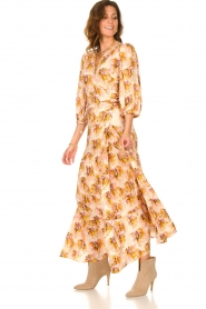 Dante 6 |  Maxi wrap dress with lurex Poetic | pink  | Picture 5