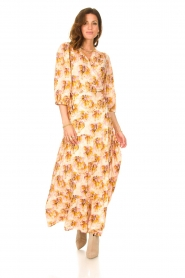 Dante 6 |  Maxi wrap dress with lurex Poetic | pink  | Picture 2
