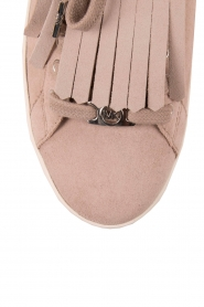 MICHAEL Michael Kors | Suède sneakers Keaton Kiltie | nude  | Afbeelding 5