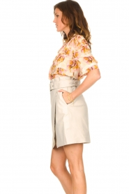 Dante 6 |  Blouse with leaves print Esmay | pink  | Picture 5