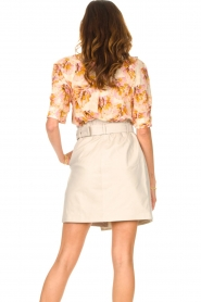 Dante 6 |  Blouse with leaves print Esmay | pink  | Picture 6
