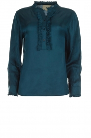 Lolly's Laundry |  Top with ruffles Franka | blue