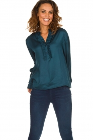 Lolly's Laundry |  Top with ruffles Franka | blue  | Picture 2