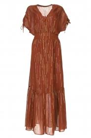 Dante 6 |  Maxi button through dress with lurex Freya | brown  | Picture 1