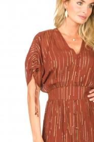 Dante 6 |  Maxi button through dress with lurex Freya | brown  | Picture 8