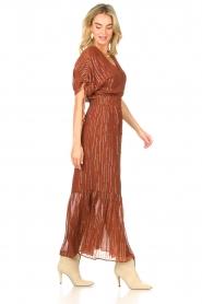 Dante 6 |  Maxi button through dress with lurex Freya | brown  | Picture 6
