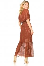 Dante 6 |  Maxi button through dress with lurex Freya | brown  | Picture 7