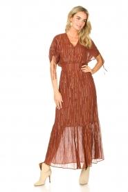 Dante 6 |  Maxi button through dress with lurex Freya | brown  | Picture 3