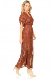 Dante 6 |  Maxi button through dress with lurex Freya | brown  | Picture 5