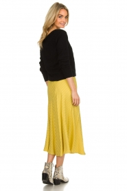 Lolly's Laundry |  Midi skirt with glitter stripes Cuba | yellow  | Picture 5