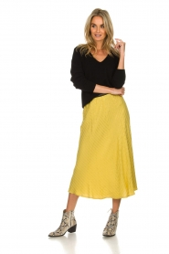 Lolly's Laundry |  Midi skirt with glitter stripes Cuba | yellow  | Picture 3