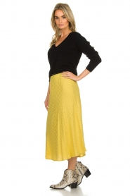 Lolly's Laundry |  Midi skirt with glitter stripes Cuba | yellow  | Picture 4