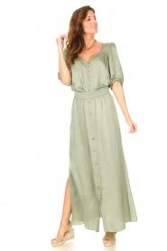 Dante 6 |  Satin maxi skirt Cooper | green  | Picture 4