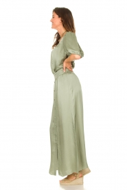 Dante 6 |  Satin maxi skirt Cooper | green  | Picture 5