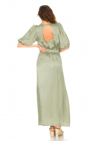 Dante 6 |  Satin maxi skirt Cooper | green  | Picture 6