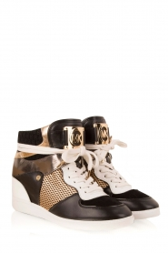 MICHAEL Michael Kors | Leren high-top sneakers Nikko | multi  | Afbeelding 3