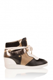MICHAEL Michael Kors | Leren high-top sneakers Nikko | multi  | Afbeelding 1