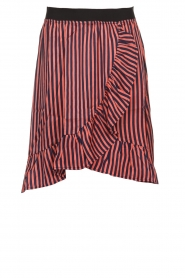 Lolly's Laundry |  Striped midi skirt Bertha | pink  | Picture 1
