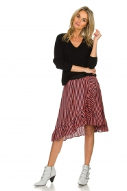 Lolly's Laundry |  Striped midi skirt Bertha | pink  | Picture 3