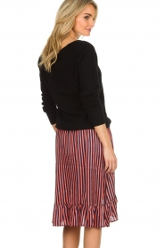 Lolly's Laundry |  Striped midi skirt Bertha | pink  | Picture 5