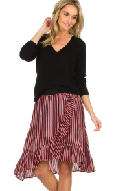 Lolly's Laundry |  Striped midi skirt Bertha | pink  | Picture 2