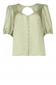 Dante 6 |  Textured blouse Moula | green  | Picture 1