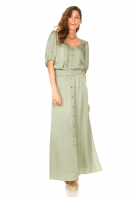 Dante 6 |  Satin blouse Moula | green  | Picture 2