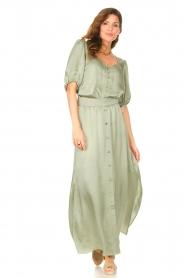Dante 6 |  Satin blouse Moula | green  | Picture 4