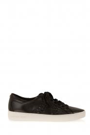 MICHAEL Michael Kors | Leren sneakers Stevie | zwart  | Afbeelding 1