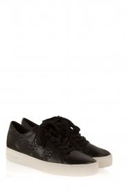 MICHAEL Michael Kors | Leren sneakers Stevie | zwart  | Afbeelding 3