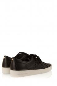 MICHAEL Michael Kors | Leren sneakers Stevie | zwart  | Afbeelding 4