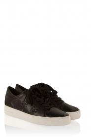 Leren sneakers Stevie | zwart
