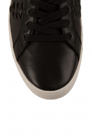 MICHAEL Michael Kors | Leren sneakers Stevie | zwart  | Afbeelding 5