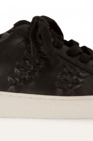 MICHAEL Michael Kors | Leren sneakers Stevie | zwart  | Afbeelding 6