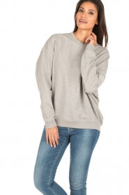 IRO | Oversized sweater Thyma | grijs  | Afbeelding 2